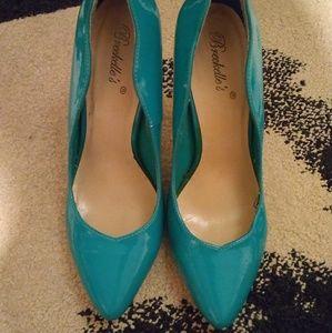 Breckelles shiny blue pumps